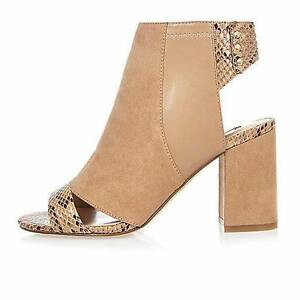river island nude boots shoes heels size 7 uk 5 Brisbane City Brisbane North West Preview
