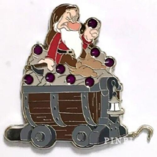 Disney Snow White and Seven Dwarfs Mine Car - Mystery Collection - Grumpy pin