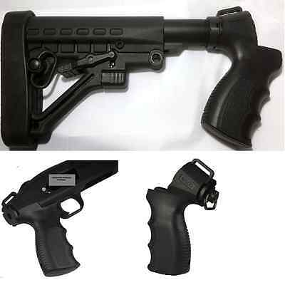 Mossberg 500 Shotgun Tactical Adjustable Stock W/Grip & Sling Swivel Recoil Pad