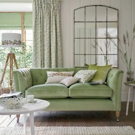 Laura Ashley Velvet Sofa Brand New