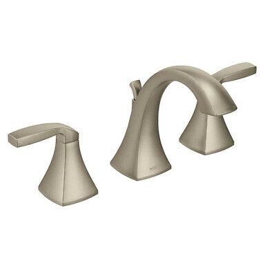 Moen T6905BN Voss Brushed Nickel Two-Handle High Arc Bathroom Faucet
