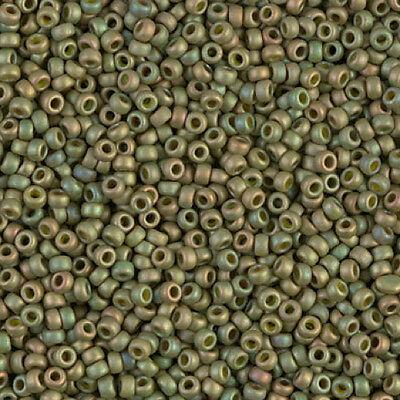 Miyuki Seed Beads 8/0 - Matte Opaque Light Olive (Light Olive Matt)