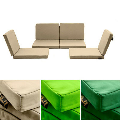 Garden Furniture - Water Resistant Replacement Cushion Covers 8pc Rattan Garden Outdoor Furniture