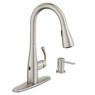 MOEN Essie Motionsense Wave 1-Handle Pull-Down Sprayer Kitchen Faucet Stainless