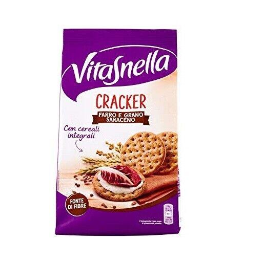 Vitasnella Cracker Farro e Grano saraceno Dinkel und Buchweizen kekse 200g