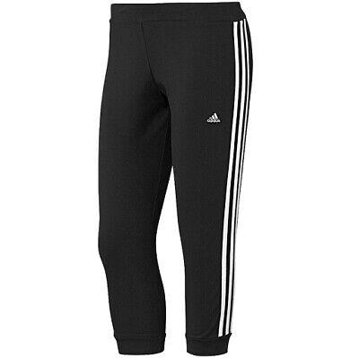 3/4 Capri Tight (ADIDAS ESS 3S 3/4 TIGHT Damen Laufhose Capri Hose Shorts Leggings schwarz/weiss)