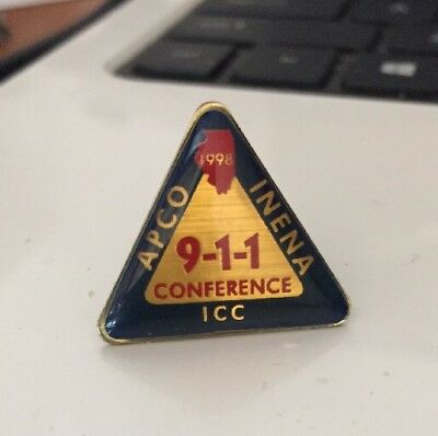 Vintage Apco Inena 911 Conference Lapel Pin
