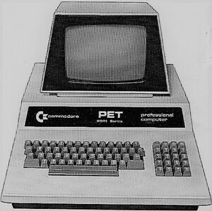 Ensemble PET Commodore 32K (premier ordinateur personnel)