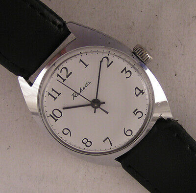 Vintage Fully Serviced Raketa 18 Jewels 1980 CCCP Wrist Watch Perfect