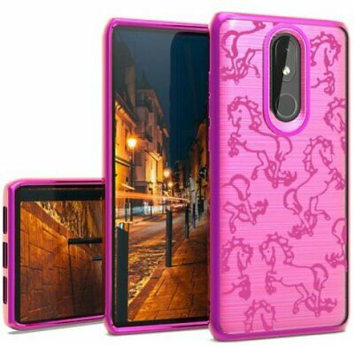 For Coolpad Legacy / Coolpad Alchemy - Hard Rubber Case Cover Hot Pink Unicorn Hot Pink Hard Case Cover
