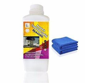 Nanotech Crystal Glass Coating 1000ml Kit 6H Nano hydrophobic Liquid for window cleaning