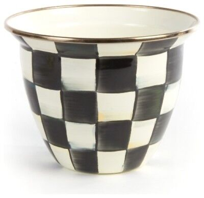MacKenzie-Childs Courtly Check Enamel Flower Pot - Large