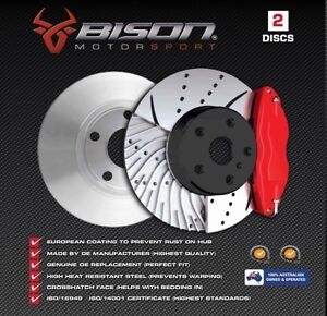 50% OFF DRILLED & SLOTTED FRONT Disc Rotors Holden Commodore VE VF SS V8 WM
