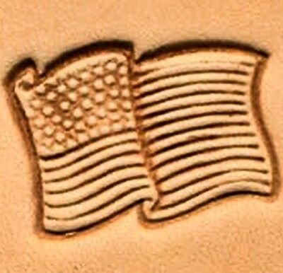 3D AMERICAN FLAG LEATHER STAMP 88354-00 Tandy Stamping Tool Craft Stamps Tools