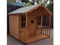 6X6 SOLID WOODEN CHILDRENS PLAYHOUSE/WENDY HOUSE TOP QUALITY