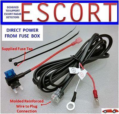 ESCORT, BELTRONICS Radar Detector Direct Power Cord from Fuse Box (DP-ESCT)