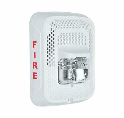 System Sensor Spswl Wall Mount Speaker Strobe Clear Lens White Fire Labeled
