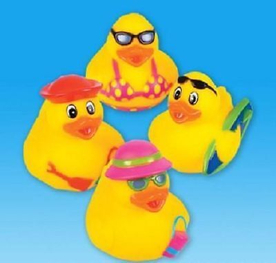 4 BEACH THEMED RUBBER DUCKS Party Favor Luau Surfer Bikini #ST6 Free Shipping - Themed Party