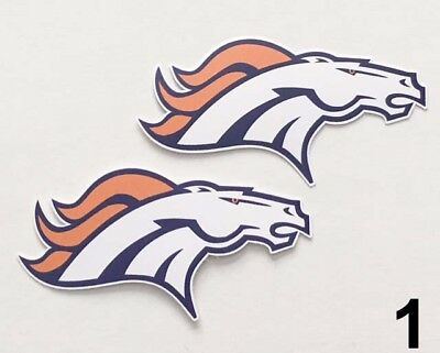 - 2x Denver Broncos Car Bumper Laptop Wall Vinyl Die Cut Stickers Decals