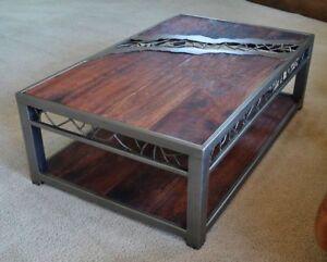 Custom steel and wood furniture