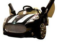 MASERATI STYLE ELECTRIC RIDE ON CAR - 12V - BLACK - BRAND NEW IN BOX!