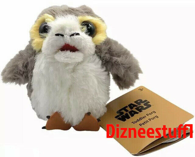 Disney Parks Star Wars Toddler Porg Talking Magnetic Shoulder Pal Plush Doll NEW