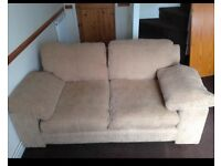 ** Nearly new** A pair of contemporary tan texture sofas
