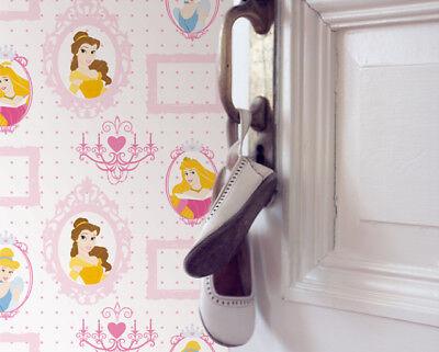 Disney Princess Royal Frames Pink Multi Kids Wallpaper