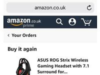 Asus Rog Strix Wireless Gaming Headset with 7.1 Surround