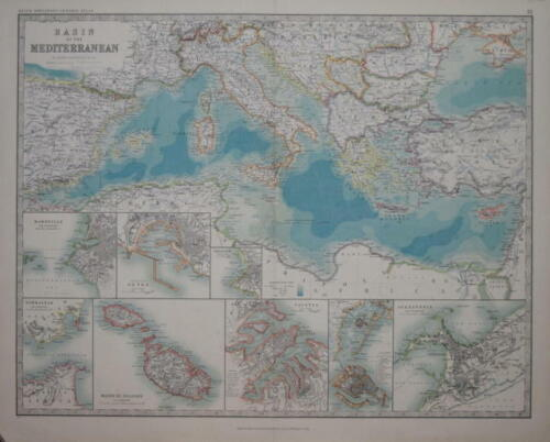BASIN OF THE MEDITERRANEAN PUBLISHED BY KEITH JOHNSTON.