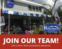 Now Hiring experienced kitchen staff for Harbour House Grill