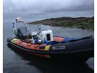 5.5 meter hummer rib boat with trailer