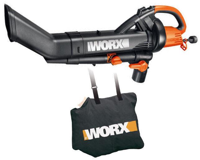 Worx Leaf Blower Vacuum Mulcher : Wg worx electric trivac leaf blower mulcher vacuum