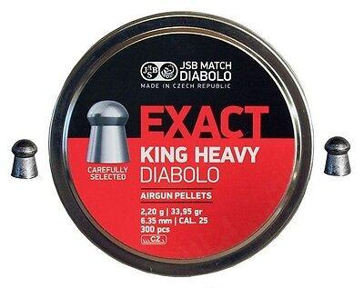 Jsb Match Diabolo Exact King Diablo Heavy  25 Cal 33 95 Grains 1200Ct  4 Tins