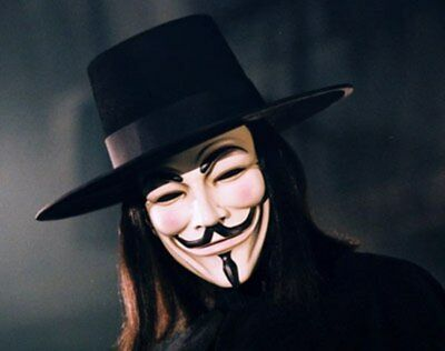 V for Vendetta movie Guy Fawkes Halloween V Mask Anonymous Cosplay Costume - Movie Mask