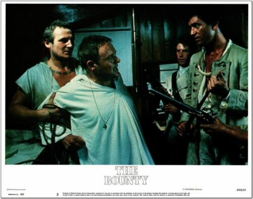 THE BOUNTY - 1984 - original 11x14 Lobby Card #3 -  MEL GIBSON, ANTHONY HOPKINS