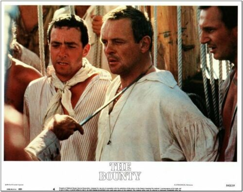 THE BOUNTY - 1984 - original 11x14 Lobby Card #4 -  Nice shot of ANTHONY HOPKINS