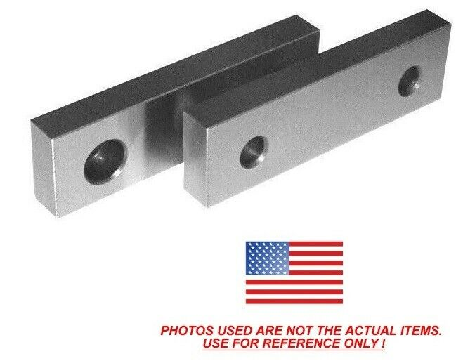 "6 x 2 x 1 Machinable Steel Vise Soft Jaws For Kurt 6"" Vises 6x2x1 FREE SHIP"