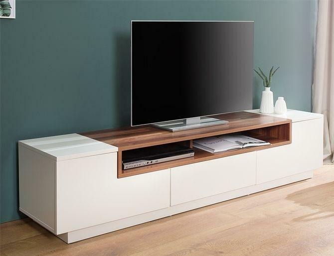 Walnoot Tv Meubel : Tv meubel emperor low wit walnoot 2dehands.be