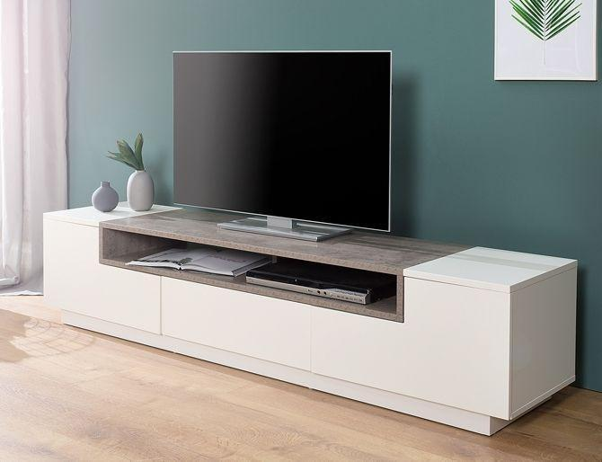 Walnoot Tv Meubel : Tv meubel emperor low wit beton 2dehands.be