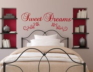 wt 22r wandtattoo sweet dreams tr ume s wandsticker schlafzimmer wandtatoo. Black Bedroom Furniture Sets. Home Design Ideas