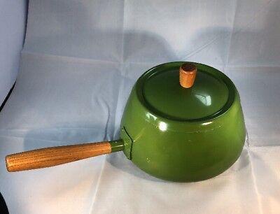 (Vintage AVOCADO Green Fondue Pot - Japan)