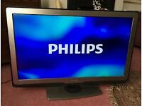 """40"""" Philips smart led lcd tv full hd, USB, WiFi, with built-in freeview."""