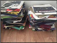 250+ assorted vinyl records