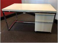 Desk gloss cream and chrome