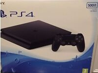 NEW BLACK PS4 SLIM 500BG D CHASSIS SEALED AND BOXED WITH ONE YEAR WARRANTY