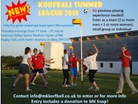 New Korfball Summer League! Teams and individual players wanted, beginners welcome meet new people
