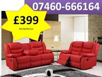 Beautiful 3 and 2 seater sofa Reclining sofa 121 -1230918