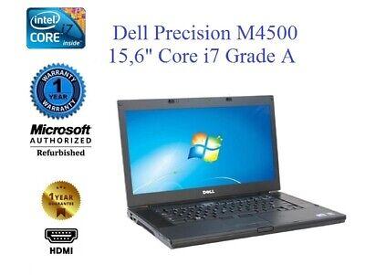 """★★★Dell Precision M4500 15,6"""" Core i7-920XM,RAM 8 Go,Remis à NEUF, Grade A ★★★"""