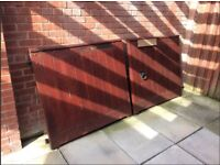 Solid Used Wooden Driveway Gates